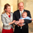 The Duke and Duchess of Parma with their son Prince Carlos