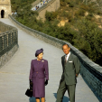 Queen Elizabeth and Prince Philip at the Great Wall of China