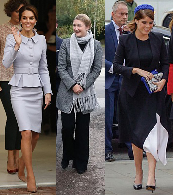 (L-R) The Duchess of Cambridge, HGD Stephanie and Princess Eugenie.