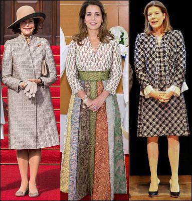 (L-R) Queen Silvia, Princess Haya and Princess caroline.