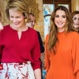 Queen Mathilde and Queen Rania
