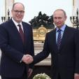 Prince Albert and President Vladimir Putin
