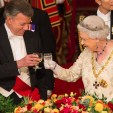 President Santos of Colombia and Queen Elizabeth