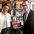 Crown Princess Victoria, Stephen Hawking and Prince Daniel