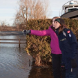 Princess Marie inspects flood damage