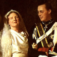 Queen Juliana and Prince Bernhard of the Netherlands on their wedding day