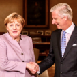 Chancellor Merkel and King Philippe