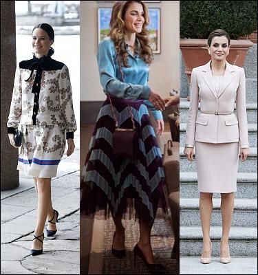 (L-R) Princess Sofia, Queen Rania and Queen Letizia.
