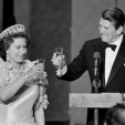 Queen Elizabeth and President Reagan, 1983