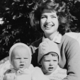 Princess Ira von Furstenberg and her sons, Christoph and Hubertus