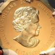 A solid-gold 100kg coin featuring Queen Elizabeth's portrait