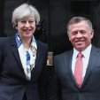 Prime Minister May and King Abdullah