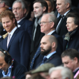 Prince Harry and Princess Anne at the rugby