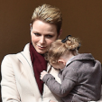 Princess Charlene and Princess Gabriella