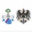 The arms of the Houses of Leiningen and Prussia