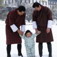 Prince Jigme Namgyel of Bhutan with his father and grandfather