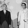 Emperor Hirohito of Japan and Queen Humaira of Afghanistan