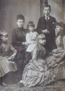 Princess Alexandra as a child with her mother and siblings; copyright expired