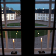 Candles in the windows of Fredensborg Palace