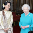 Aung San Suu Kyi and Queen Elizabeth