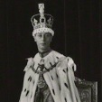 George VI of the United Kingdom on his day of coronation