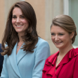 The Duchess of Cambridge and Hereditary Grand Duchess Stephanie