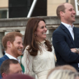 Prince Harry, the Duchess of Cambridge and Prince William