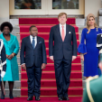 The King and Queen of the Netherlands with the President of Mozambique