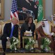 King Salman of Saudi Arabia and the US President