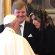 The Dutch King and Queen with Pope Francis