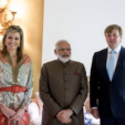 Queen Maxima, the Prime Minister of India, and King Willem-Alexander