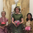 The Duchess of Gloucester, Queen Mathilde and Princess Sarvath