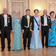 King Harald, Queen Margrethe, the Presidential Couple of Finland, King Carl Gustaf, Queen Silvia