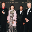 Queen Silvia and King Carl Gustaf with the 2017 Polar Music Prize laureates