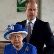 Queen Elizabeth and the Duke of Cambridge