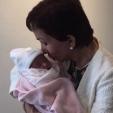 Princess Basma bint Talal and her new granddaughter