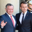 King Abdullah and President Macron of France