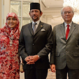 The Sultan and Queen of Brunei with the Singaporean President