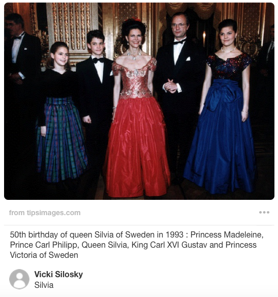 The Royal Family celebrates Queen Silvia's 50th birthday 1993