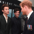 Prince Harry with singer Harry Styles