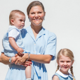 Crown Princess Victoria with her two children Estelle and Oscar