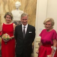 Queen Mathilde, King Philippe and Princess Astrid