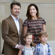 Crown Prince Frederik and Crown Princess Mary of Denmark with their youngest children, Vincent and Josephine