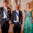 The King and Queen of the Netherlands with the Portuguese President