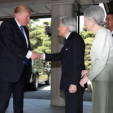 The Emperor and Empress of Japan with President Trump of the US