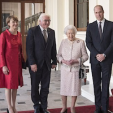 The German Presidential Couple and Queen Elizabeth with Prince William