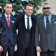 The King and Crown Prince of Morocco with the French President