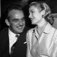 Prince Rainier of Monaco and Grace Kelly announce their engagement in 1956