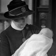 Princess Alexandra of Kent as a newborn