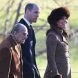 The Duke of Edinburgh, the Duke of Cambridge and the Duchess of Cambridge